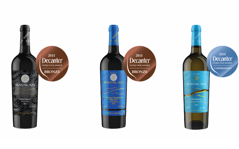 Decanter World Wine Awards 2015. Savalan wines were awarded a bronze medal.